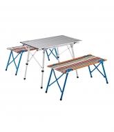[LOGOS]A/Leg Table & Bench Set..